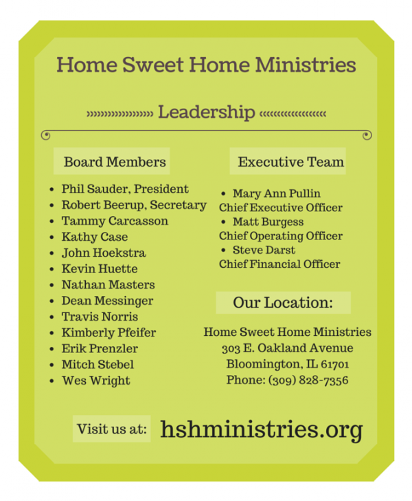 Home Sweet Home Ministries | Shelter Services